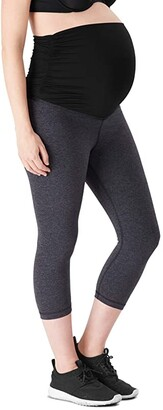 Belly Bandit Essential Maternity Capri Leggings (Black) Women's Casual Pants