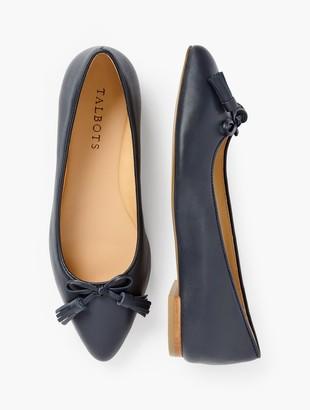 Talbots Poppy Bow Flats - Nappa Leather