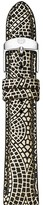 Michele Gold Mosaic Leather Watch Strap, 18mm
