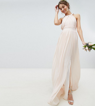 TFNC Tall Tall Pleated Maxi Bridesmaid Dress-Pink