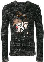 Dolce & Gabbana Western Designers patch jumper