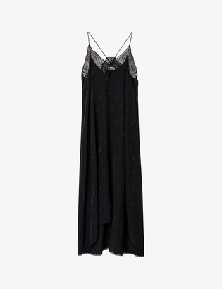Zadig & Voltaire Risty lace-trim silk-jacquard dress