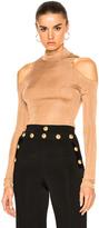 Balmain Suede Lace Up Mini Skirt