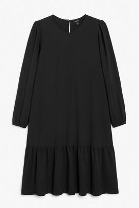 Monki Crepe midi dress