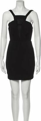 Aq/Aq Square Neckline Mini Dress Black Square Neckline Mini Dress