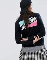Santa Cruz Boyfriend Sweatshirt With Embroidered Back Print