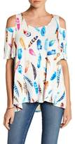 Karen Kane Cold Shoulder Swing Shirt
