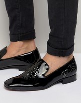 Jeffery West Yung Skull Patent Smart Loafers