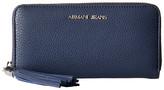 Armani Jeans Zip Around Wallet with Tassle Detail