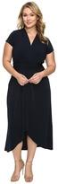 MICHAEL Michael Kors Size Cap Sleeve Maxi Wrap Dress