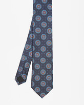 Ted Baker Circle Jacquard Silk Tie Blue