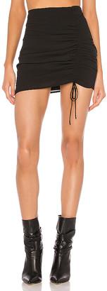 superdown x Draya Michele Krissie Ruched Mini Skirt
