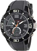 U.S. Polo Assn. Sport Men's US9480 Sport Watch with Grey Silicone Band