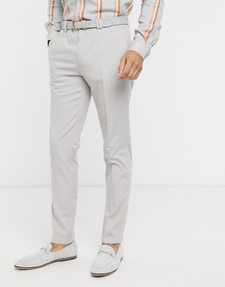Viggo recycled polyester suit trousers with pocket detail in stone