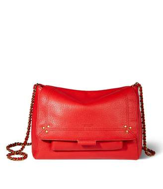 Jerome Dreyfuss Lulu Medium Bag in Rouge Goatskin