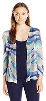 Nic+Zoe Women's Stripe Scope Cardy