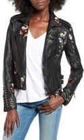 Blank NYC Women's Blanknyc Embroidered Faux Leather Moto Jacket