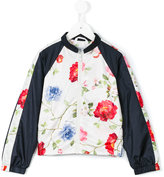 MonnaLisa floral print bomber jacket