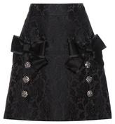 Dolce & Gabbana Embellished Jacquard Miniskirt