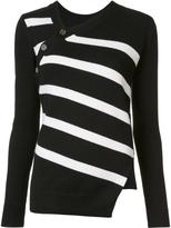 Proenza Schouler Asymmetric Striped Sweater