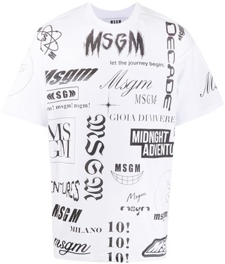 MSGM logo print crew neck T-shirt