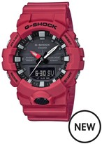 Casio G Shock Casio G Shock Black Dial Red Resin Strap Mens Watch