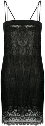 Dolci Follie Beaded Trim Slip Dress