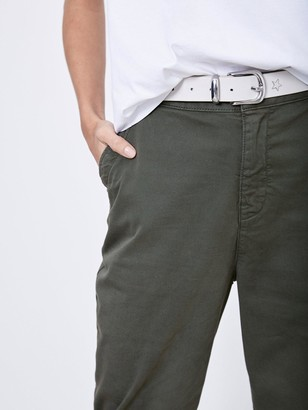 Mint Velvet Button Detail Chino - Khaki