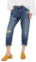 Topshop Petite Women's Hayden Ripped Boyfriend Jeans