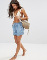 Seafolly Embroidered Chambray Short