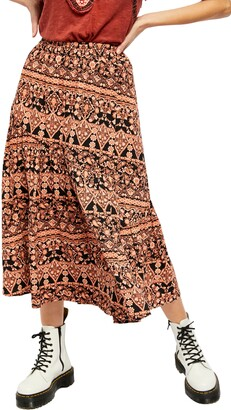 Free People All About The Tiers Maxi Skirt