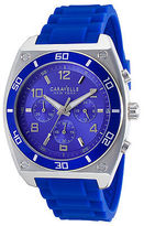 Caravelle NY 45A115 Men's Chrono Blue Silicone and Dial SS