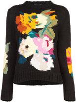 Smythe floral intarsia jumper
