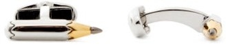 Paul Smith Pencil Logo-engraved Metal Cufflinks - Mens - Silver