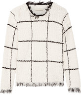 By Malene Birger Tapania fringed checked cotton-blend bouclé sweater