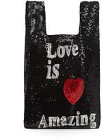 Ashish Love is Amazing sequin-embellished bag