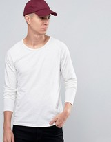 Selected Long Sleeve T-Shirt in White
