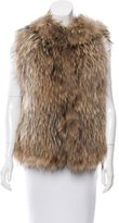 Yves Salomon Hooded Fur Vest