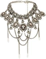 Very Encrusted High Neck Choker Necklace