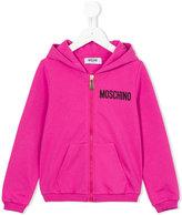 Moschino Kids - logo print hoodie - kids - Cotton/Spandex/Elastane - 4 yrs