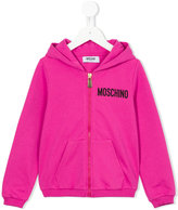 Moschino Kids logo print hoodie