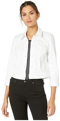 NYDJ Slim Trucker Jacket (Optic White) Women's Clothing