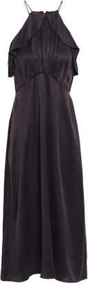 Zimmermann Ruffle-trimmed Silk-satin Midi Dress
