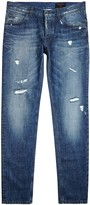 Dolce & Gabbana Blue Distressed Straight-leg Jeans