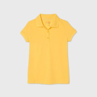 Cat & Jack Girls' Short Sleeve Stretch Pique Uniform Polo Shirt - Cat & JackTM