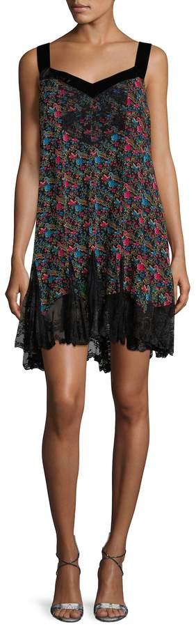 Anna Sui Women's Ditsy Print Slip Dress