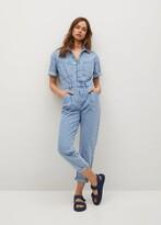Thumbnail for your product : MANGO Cotton denim jumpsuit