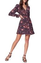 Paige Coriander Floral Print Long Sleeve Silk Minidress