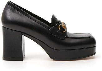 Gucci Horsebit Block Heel Loafers