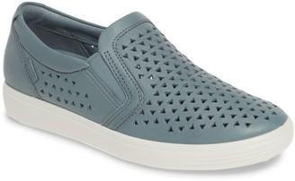 Ecco Soft 7 Leather Laser Cut Slip-On Sneaker